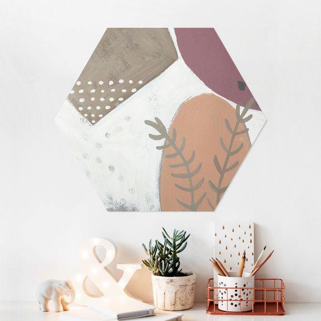 Hexagon Bild Forex - Karneval der Formen in Lachs II