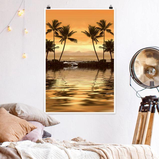 Poster - Caribbean Sunset I - Hochformat 3:2