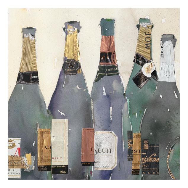 Glas Spritzschutz - Entkorkt - Champagner - Quadrat - 1:1