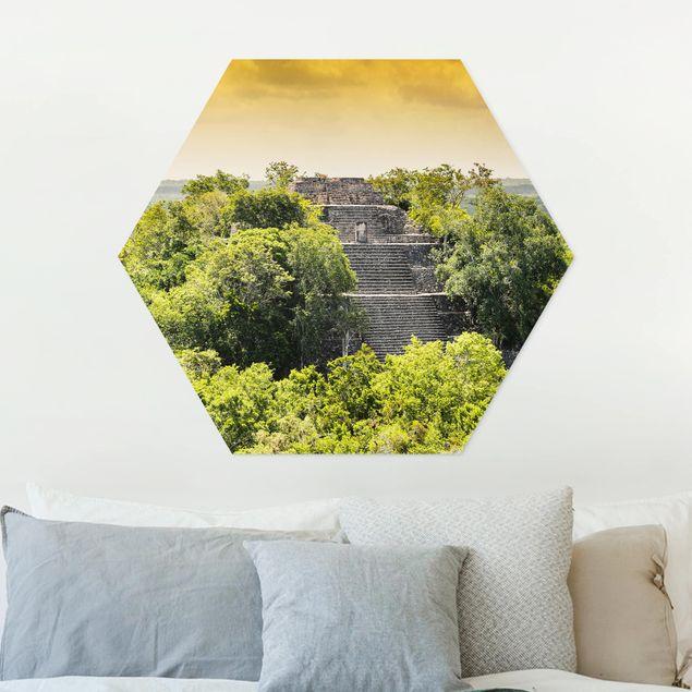Hexagon Bild Forex - Pyramide von Calakmul