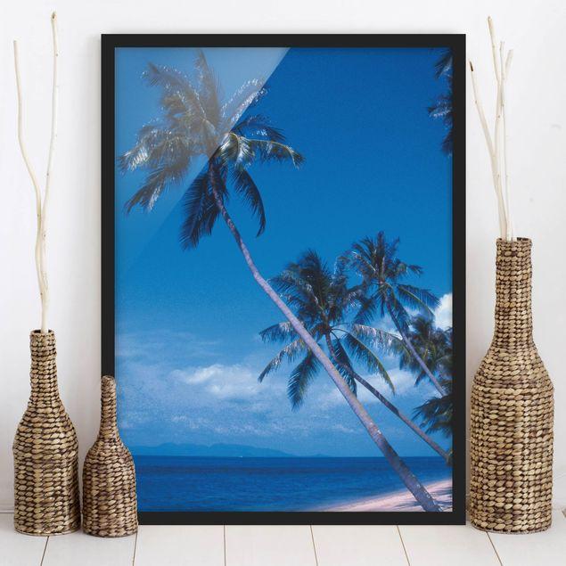 Bild mit Rahmen - Mauritius Beach - Hochformat 3:4