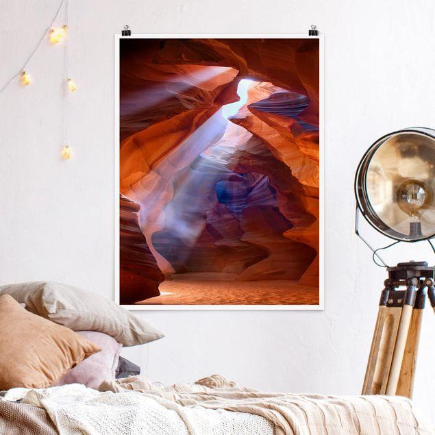 Poster - Lichtspiel im Antelope Canyon - Hochformat 3:4