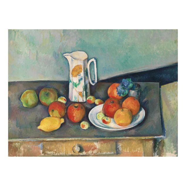 Glas Spritzschutz - Paul Cézanne - Stillleben Milchkrug - Querformat - 4:3