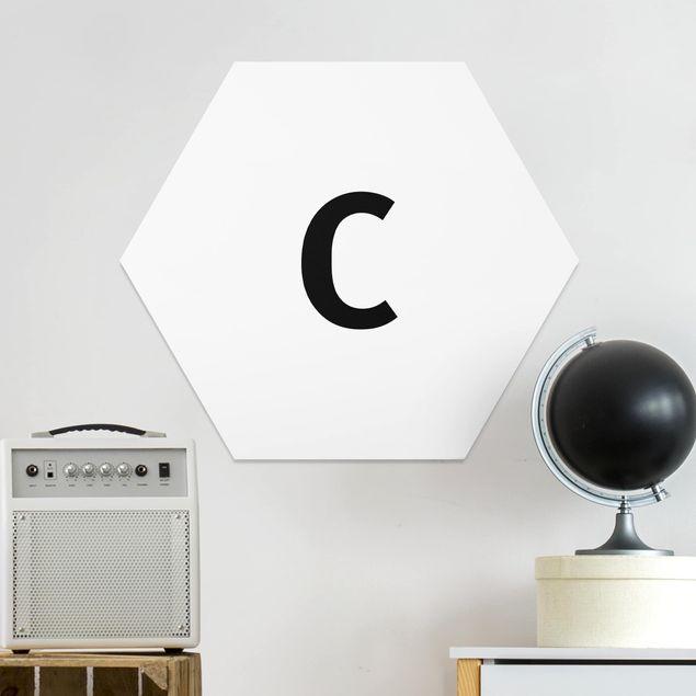 Hexagon Bild Forex - Buchstabe Weiß C