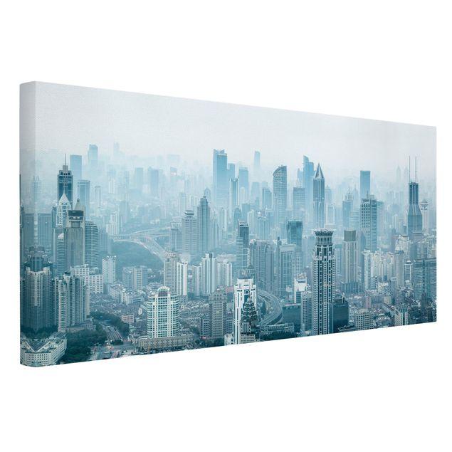 Leinwandbild - Kühles Shanghai - Querformat 2:1