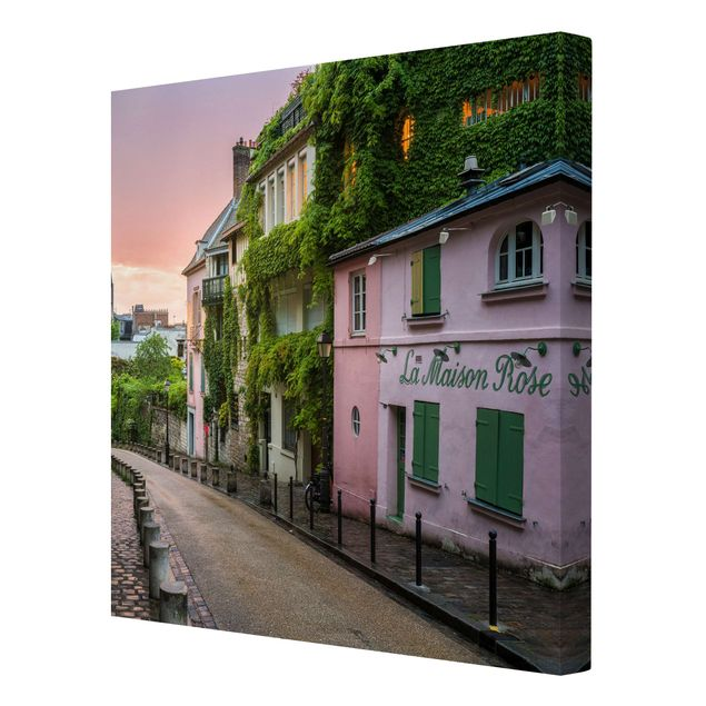 Leinwandbild - Rosa Dämmerung in Paris - Quadrat 1:1
