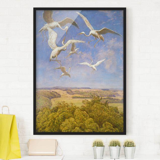 Bild mit Rahmen - Hans Thoma - Wonne des Fliegens - Hochformat 3:4