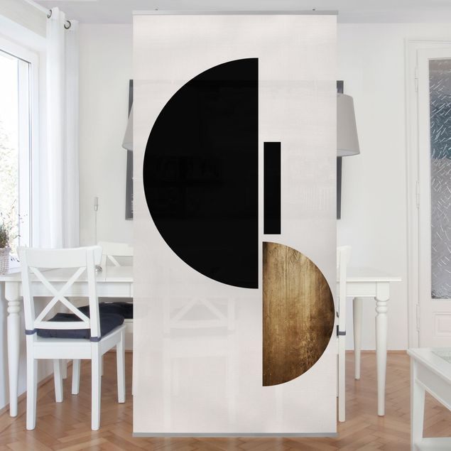 Raumteiler - Geometrischer Halbkreis I - 250x120cm
