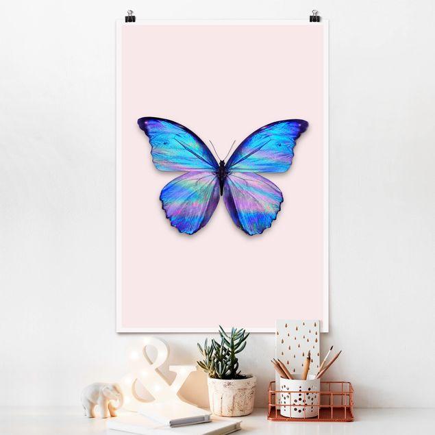 Poster - Jonas Loose - Holografischer Schmetterling - Hochformat 3:2