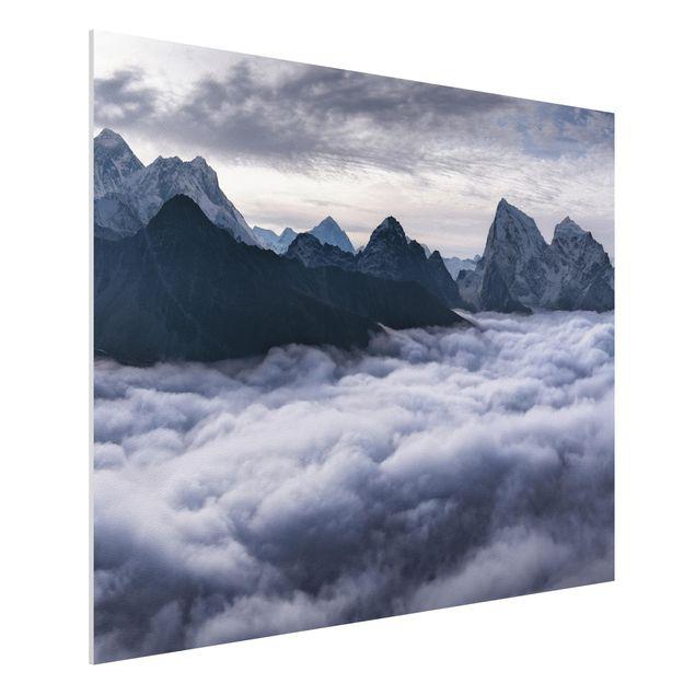 Forex Fine Art Print - Wolkenmeer im Himalaya - Querformat 3:4