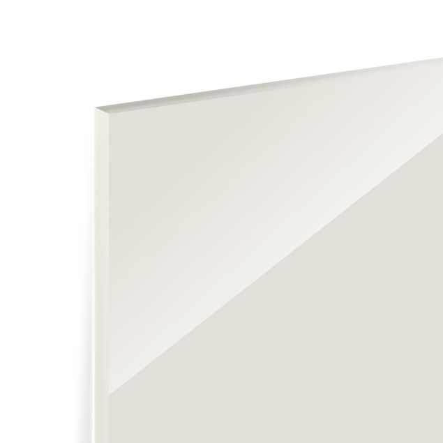 Glas Spritzschutz - Meersand - Quadrat - 1:1