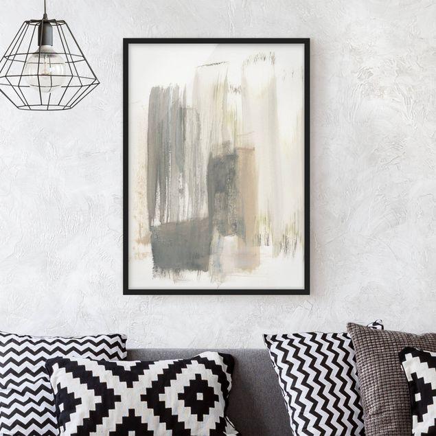 Bild mit Rahmen - Ein Hauch von Pastell I - Hochformat 4:3