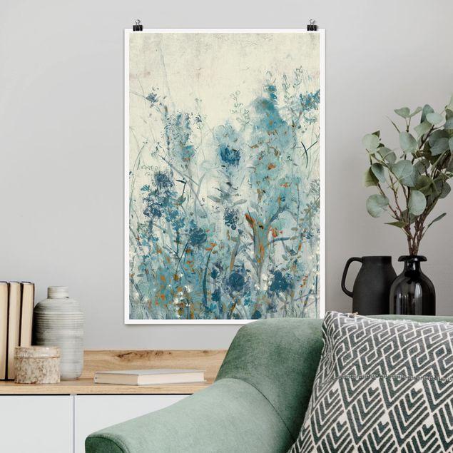 Poster - Blaue Frühlingswiese II - Hochformat 3:2