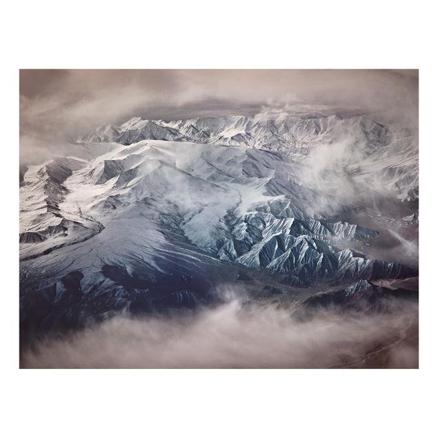 Glas Spritzschutz - Berge von Tibet - Querformat - 4:3