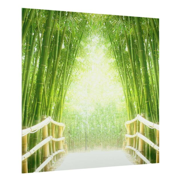 Glas Spritzschutz - Bamboo Way - Quadrat - 1:1