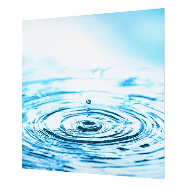 Glas Spritzschutz - Drops Turbulence - Quadrat - 1:1