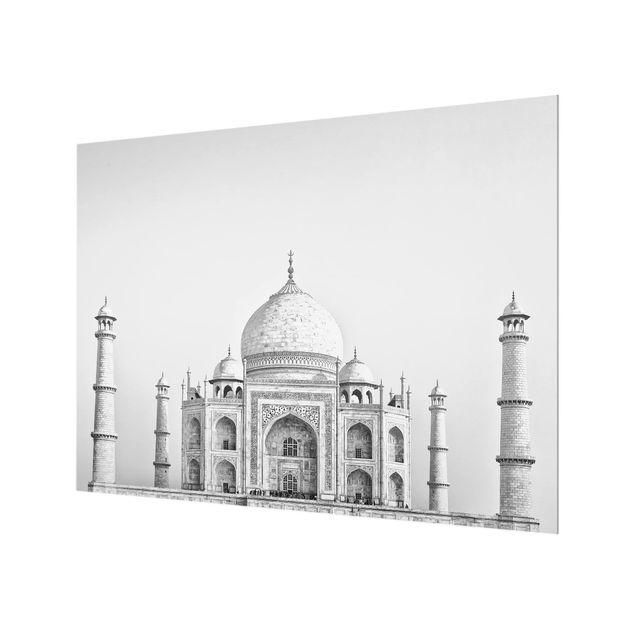 Glas Spritzschutz - Taj Mahal in Grau - Querformat - 4:3