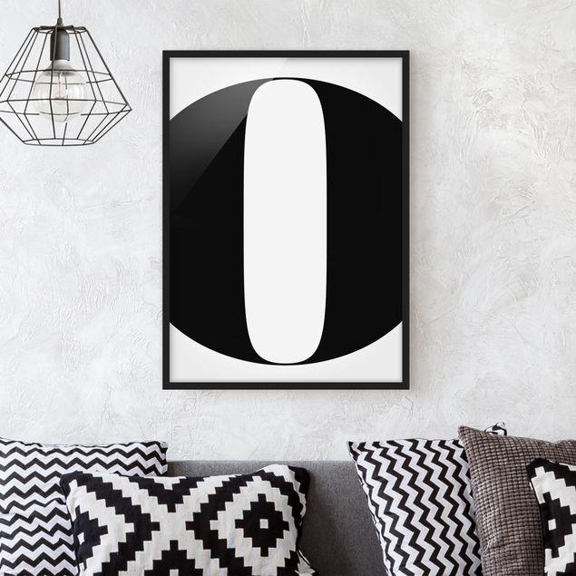 Bild mit Rahmen - Antiqua Letter O - Hochformat 3:4