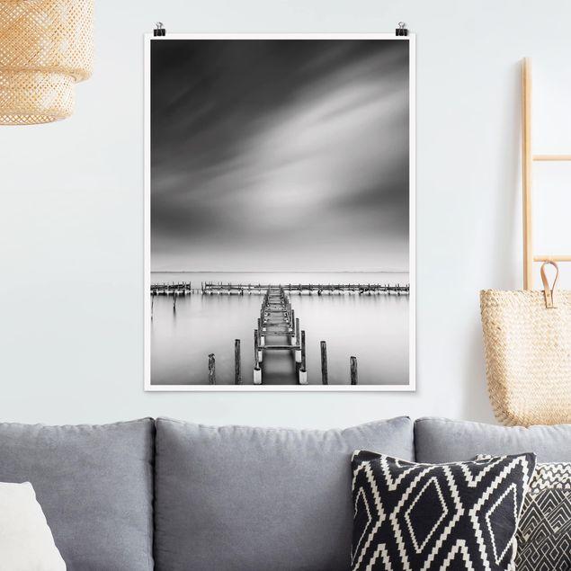Poster - Der alte Pier - Hochformat 3:4