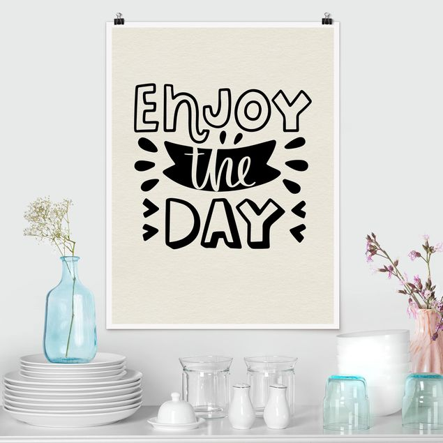 Poster - Enjoy the day - Hochformat 3:4