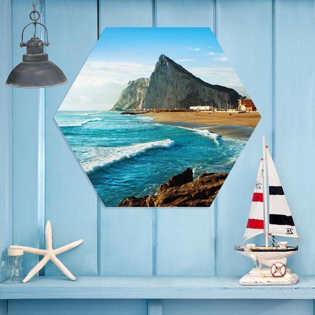 Hexagon Bild Forex - Gibraltar am Meer