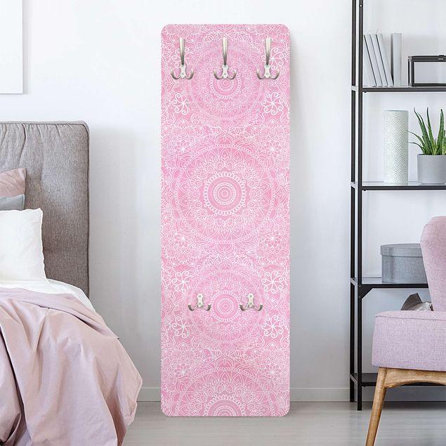Garderobe - Muster Mandala Rosa