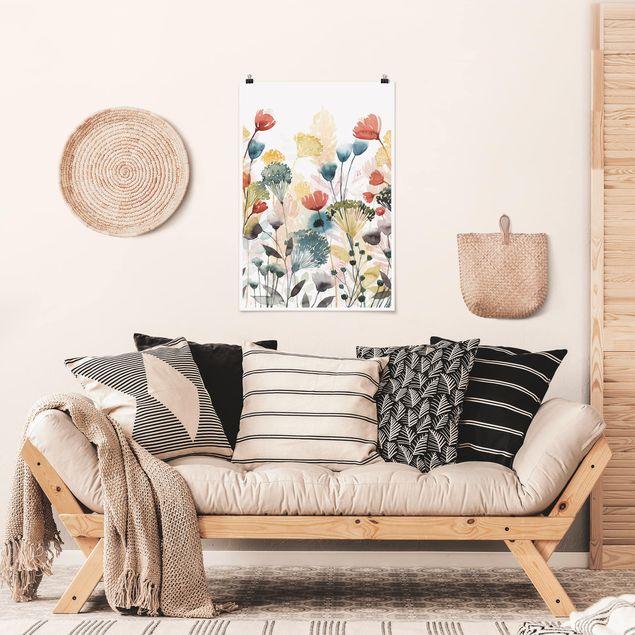 Poster - Wildblumen im Sommer II - Hochformat 3:2