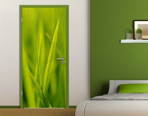 "Fototapete Tür - Papier No.5 ""FEELING THE GRASS"" 100x210cm"