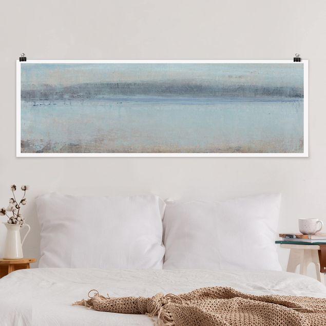 Poster - Horizont über Blau I - Panorama Querformat