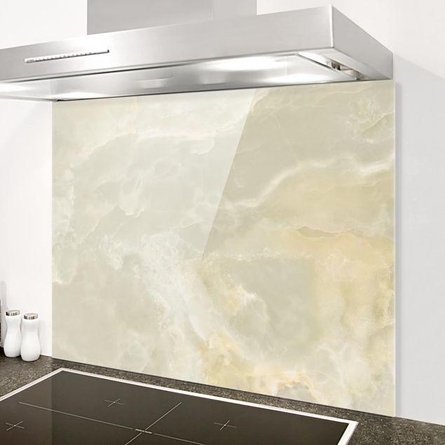 Glas Spritzschutz - Ony: Marmor Creme - Querformat - 4:3
