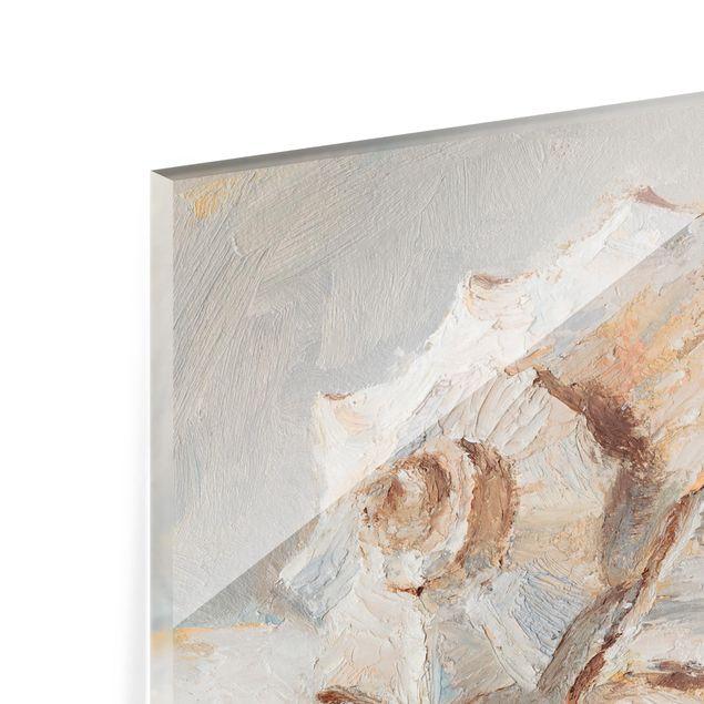 Glas Spritzschutz - Muschel-Studie II - Querformat - 4:3