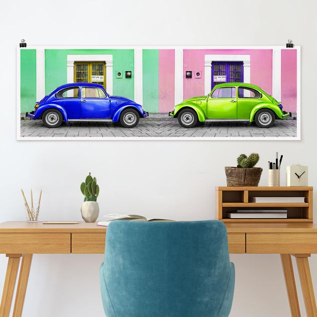 Poster - Farbige Beetles - Panorama Querformat