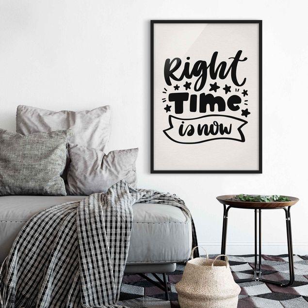 Bild mit Rahmen - Right time is now - Hochformat 3:4