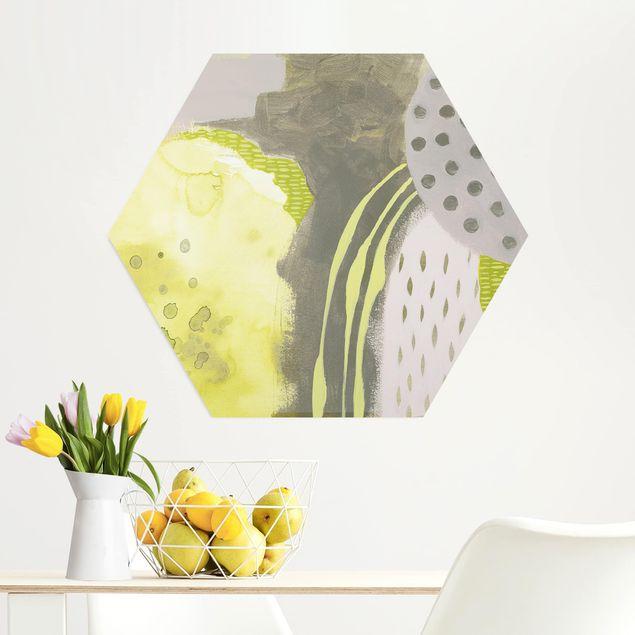 Hexagon Bild Alu-Dibond - Sonnenflecken II