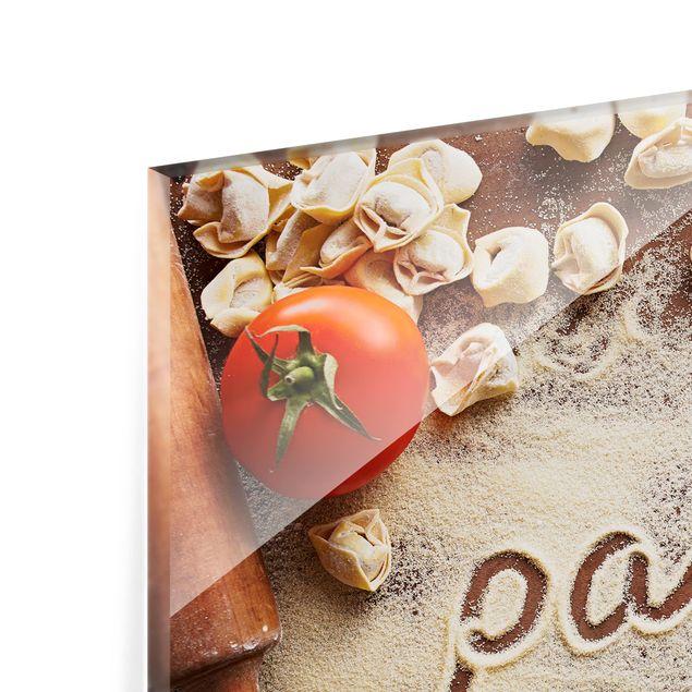 Glas Spritzschutz - Pasta Italiana - Querformat - 4:3