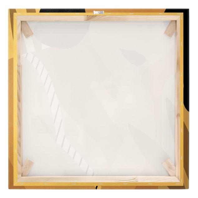Leinwandbild Gold - Illustration Frauenportrait - Quadrat 1:1
