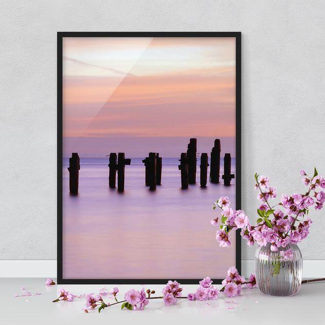 Bild mit Rahmen - Meeresromantik - Hochformat 3:4