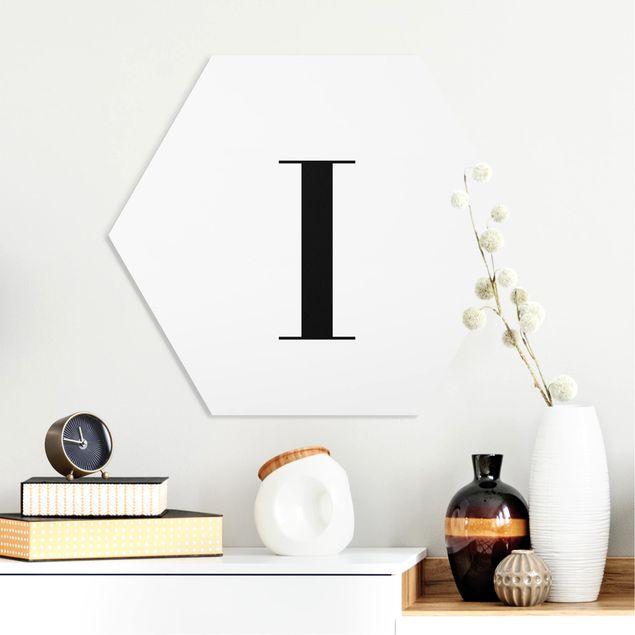Hexagon Bild Forex - Buchstabe Serif Weiß I