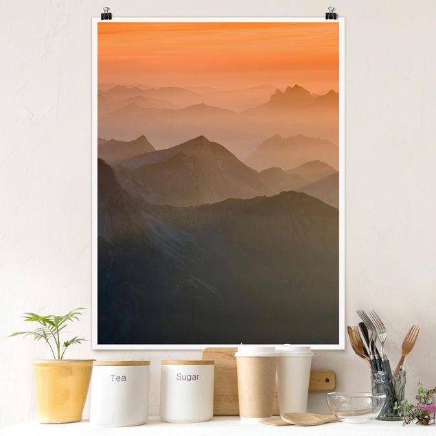 Poster - Blick von der Zugspitze - Hochformat 3:4