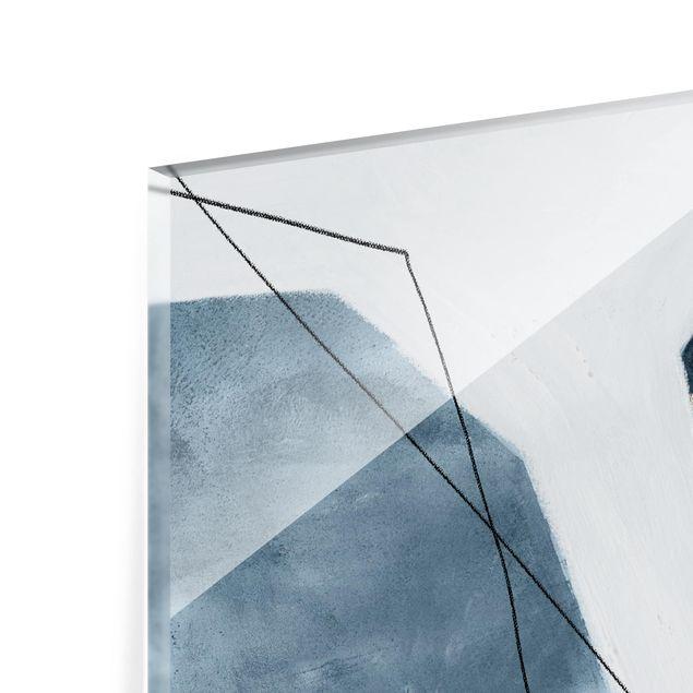Glas Spritzschutz - Punkte im Dialog III - Querformat - 4:3