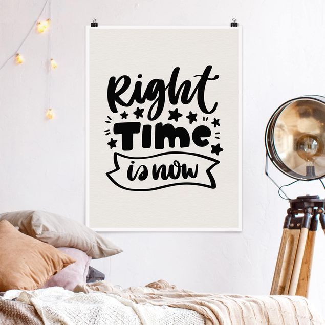 Poster - Right time is now - Hochformat 3:4