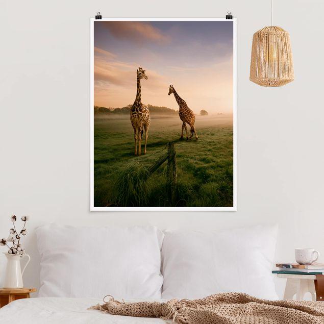Poster - Surreal Giraffes - Hochformat 3:4