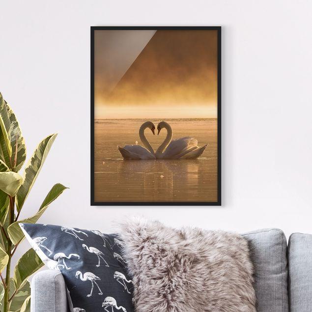 Bild mit Rahmen - Lovers - Hochformat 3:4