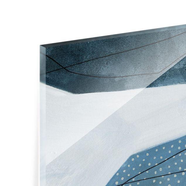 Glas Spritzschutz - Punkte im Dialog I - Querformat - 4:3