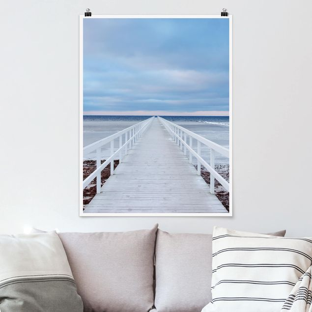 Poster - Brücke in Schweden - Hochformat 3:4