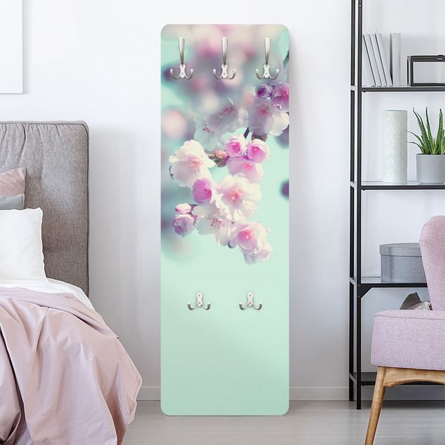Garderobe - Farbenfrohe Kirschblüten