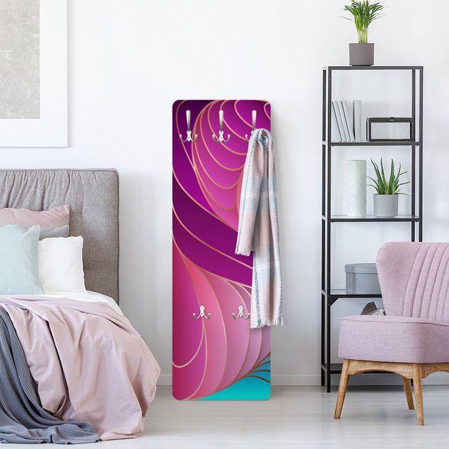 Garderobe - Farbenfrohes Art Deco II