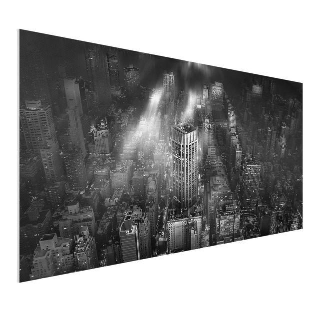 Forex Fine Art Print - Sonnenlicht über New York City - Querformat 1:2