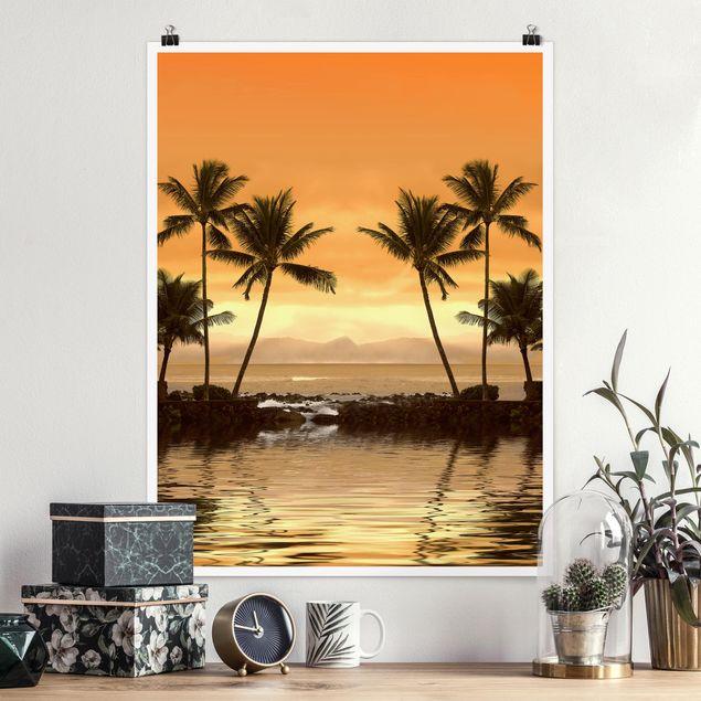 Poster - Caribbean Sunset I - Hochformat 3:4