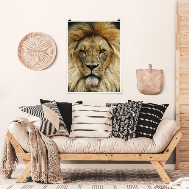 Poster - Wisdom of Lion - Hochformat 3:4